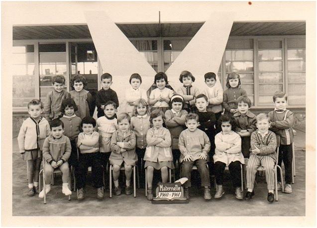 Une classe de C.P. – Année scolaire 1961-1962